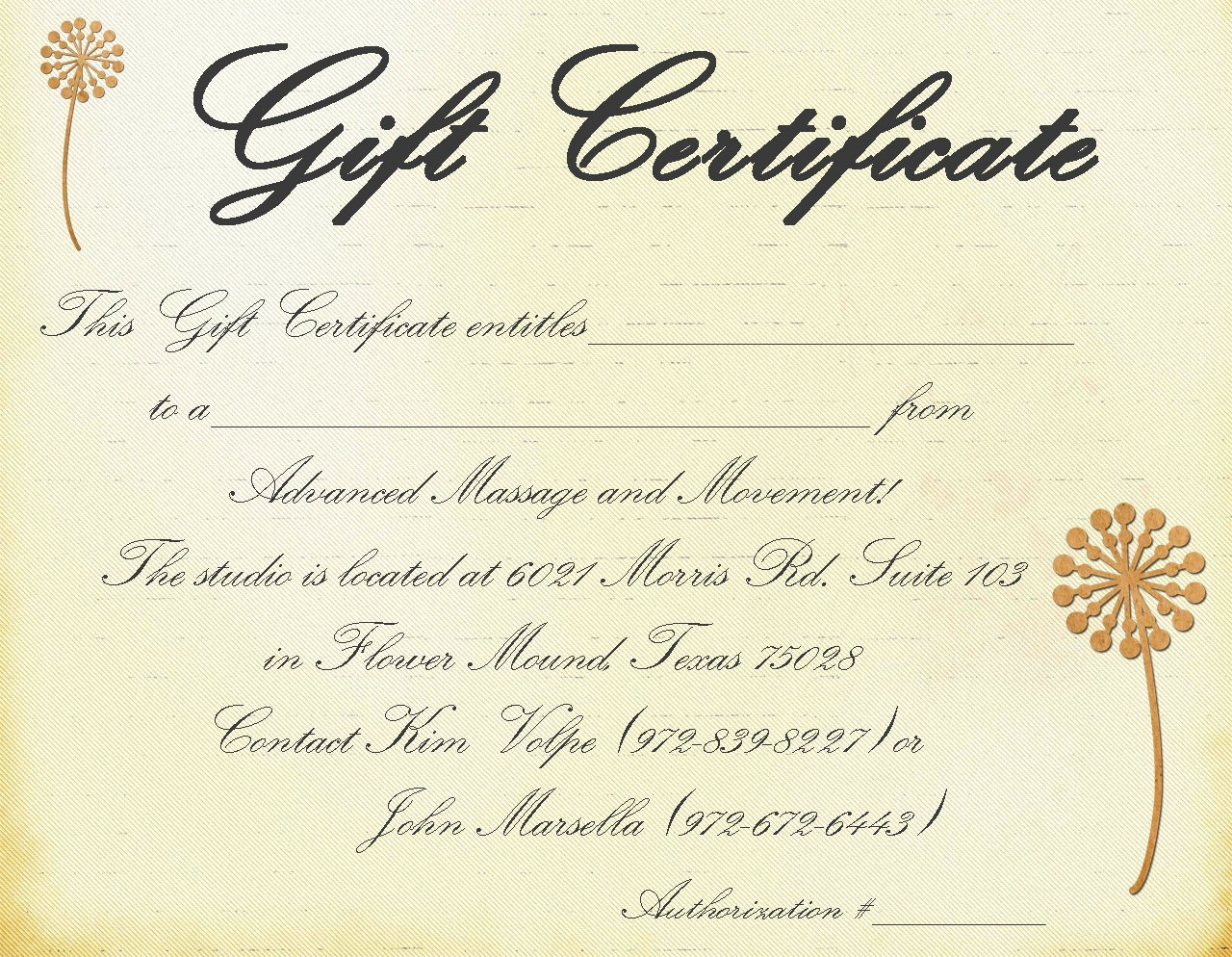 Massage Gift Certificate Template Awesome Massage Gift Certificate Templates