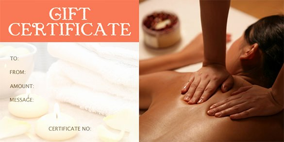 Massage Gift Certificate Template Beautiful Gift Certificate Template – 34 Free Word Outlook Pdf