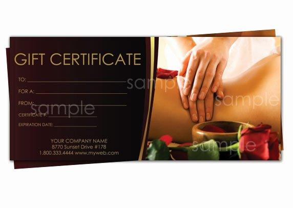 Massage Gift Certificate Template Elegant Print Your Own Gift Certificates Using Easy Templates