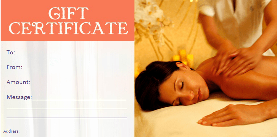 Massage Gift Certificate Template Lovely Gift Certificate Templates