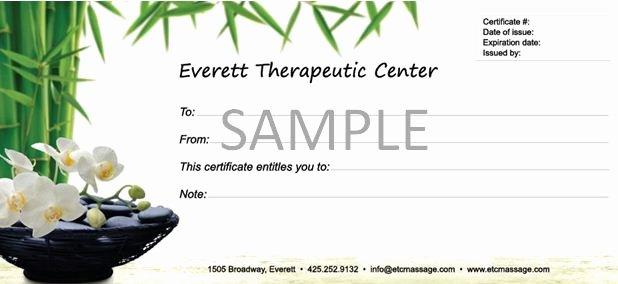 Massage Gift Certificate Template Luxury 6 Best Of Massage Gift Certificate Template
