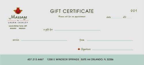 Massage Gift Certificate Template New 10 Best Of Free Printable Massage Gift Certificate