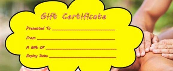 Massage Gift Certificate Template New Massage Gift Certificate Template 14 Free Printable