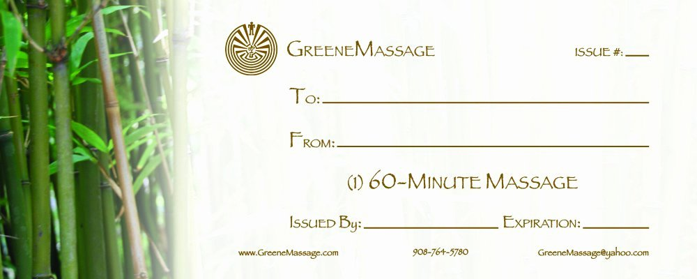 Massage Gift Certificate Template New Massage Gift Certificate Templates
