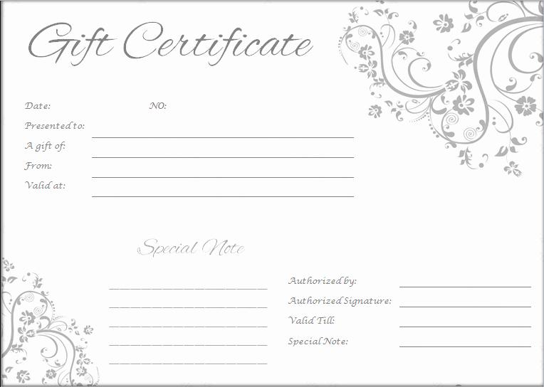 Massage Gift Certificate Template Unique Massage Gift Certificate Templates Word