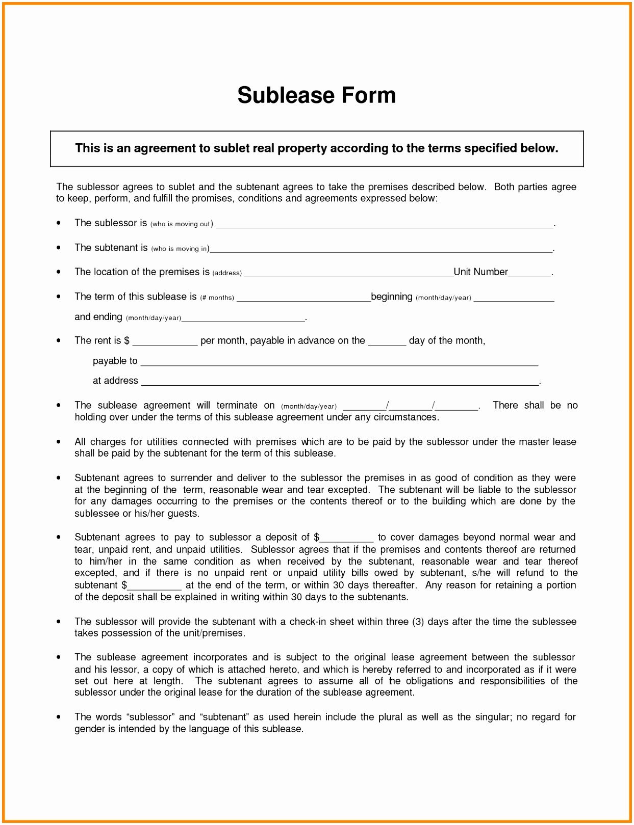Master Lease Agreement Template Awesome 9 Master Lease Agreement Template Owaip