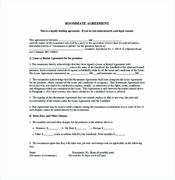 Master Lease Agreement Template Awesome Room Rental Agreement form Pdf – Hetero