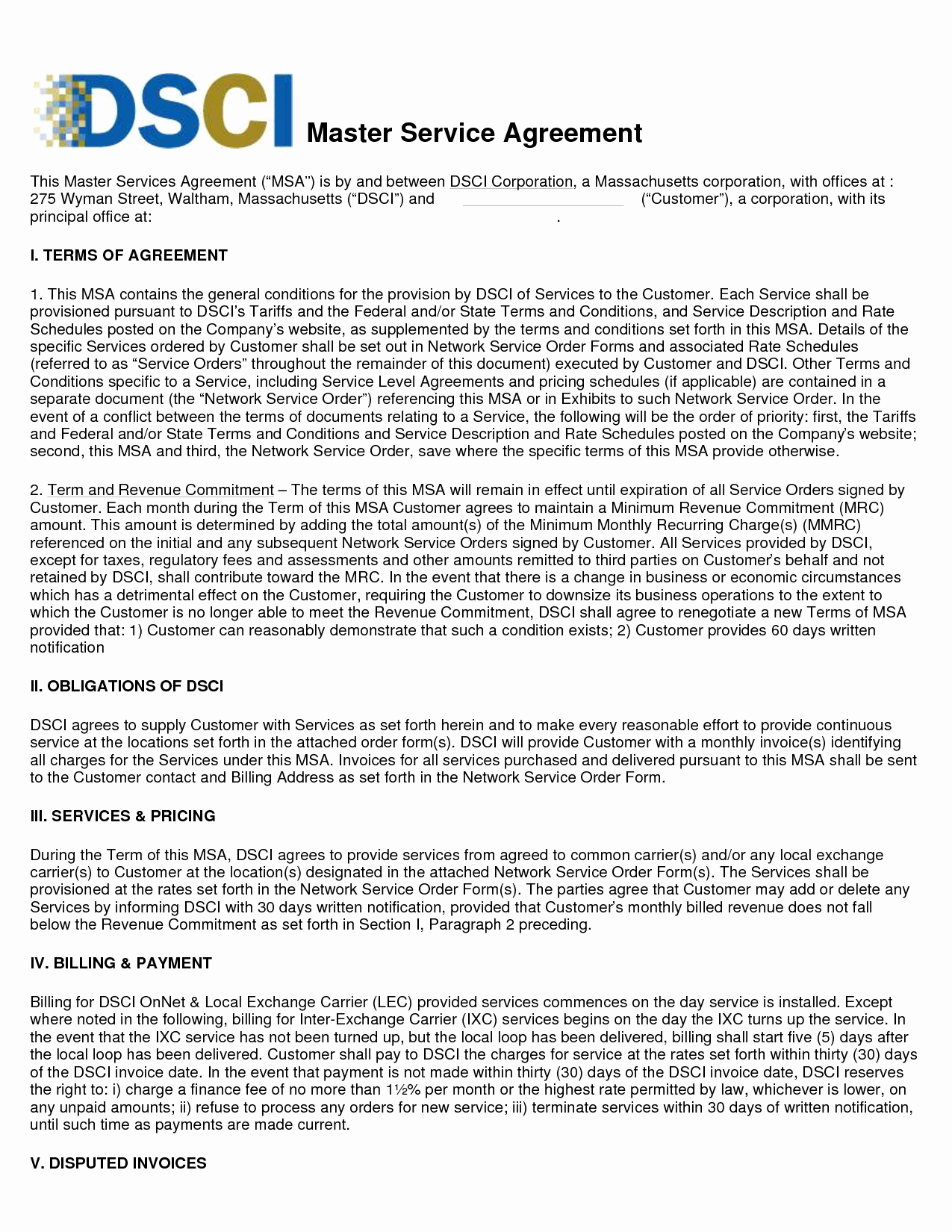 Master Services Agreement Template Awesome Agreement Template Category Page 29 Efoza