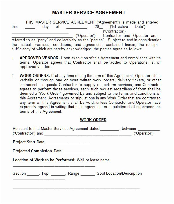 Master Services Agreement Template Best Of 15 Sample Master Service Agreement Templates