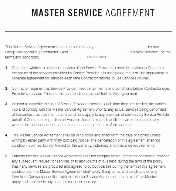Master Services Agreement Template Best Of Get Lawn Care Contract forms Free Printable with Premium