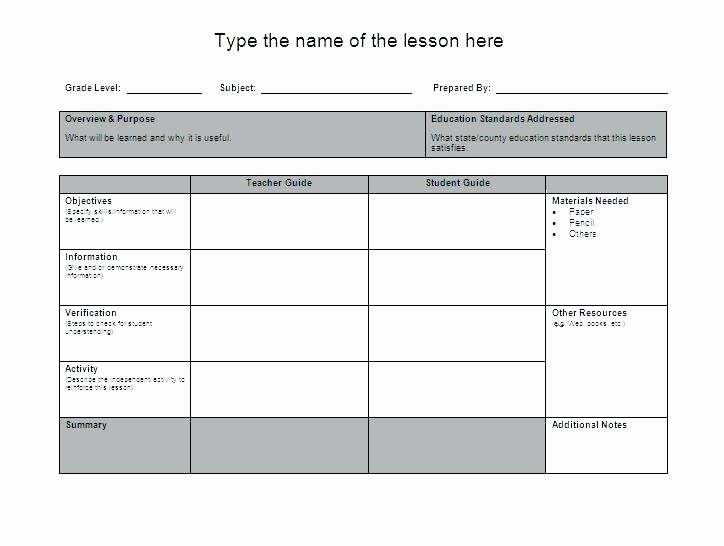 Math Lesson Plan Template Beautiful Mon Core Weekly Lesson Plan Word Free Download Siop