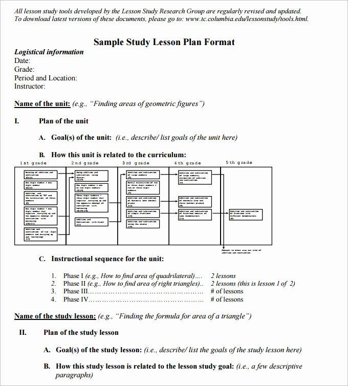 Math Lesson Plan Template Fresh 7 Math Lesson Plan Template Free Pdf Word format