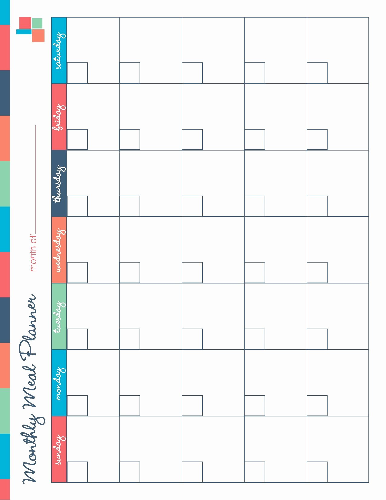 Meal Plan Calendar Template Awesome Free Printable Meal Planner Kitchen Set Recipes