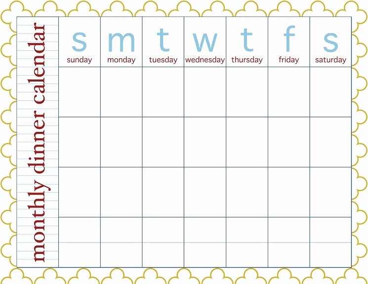 Meal Plan Calendar Template Best Of 28 Useful Printable Monthly Meal Planners