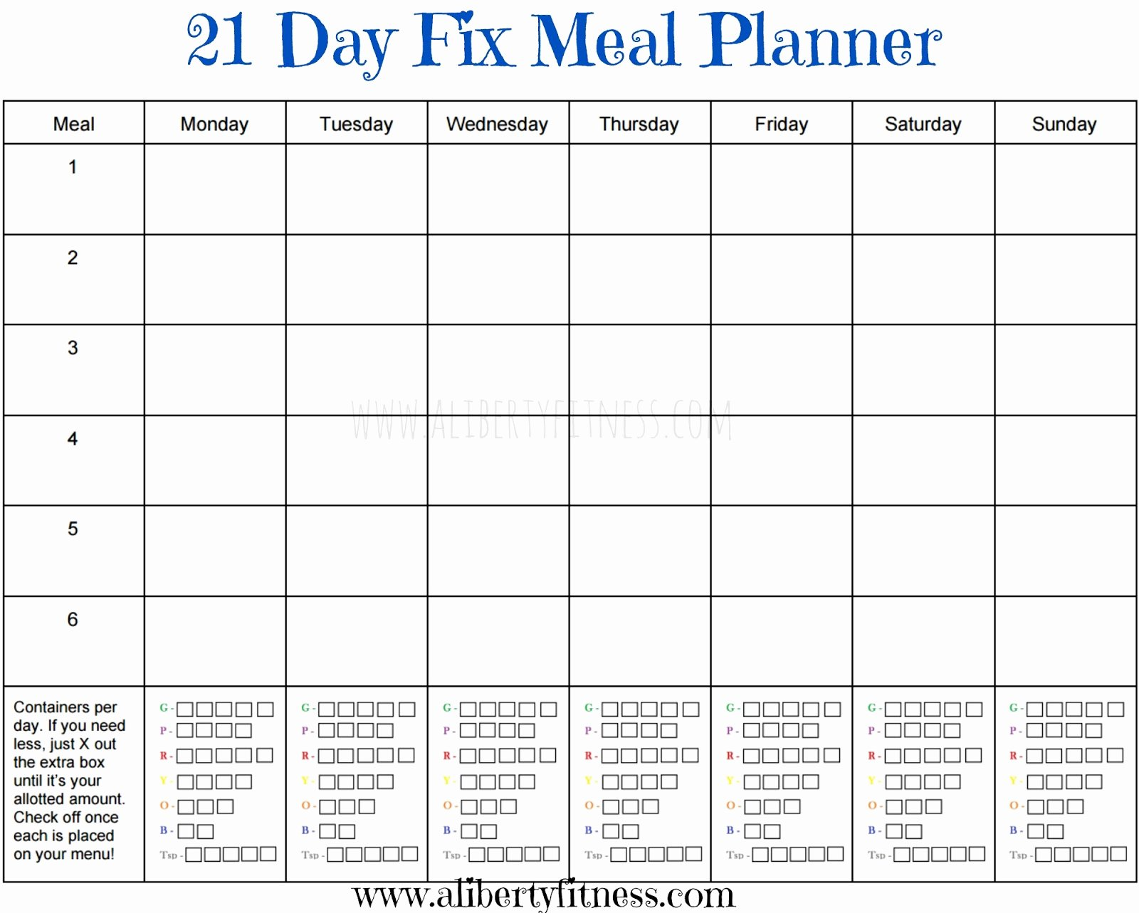 Meal Plan Calendar Template Luxury Grace & Grit 21 Day Fix Meal Planner and Grocery List