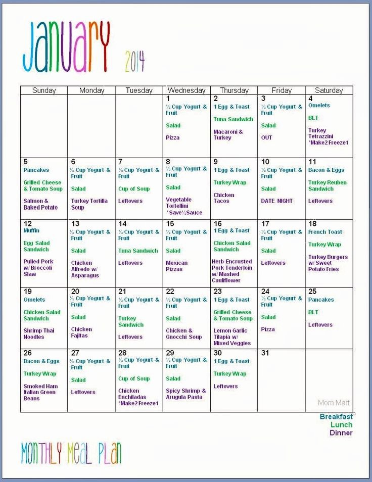 Meal Plan Calendar Template Unique Best 25 Monthly Meal Planning Ideas On Pinterest