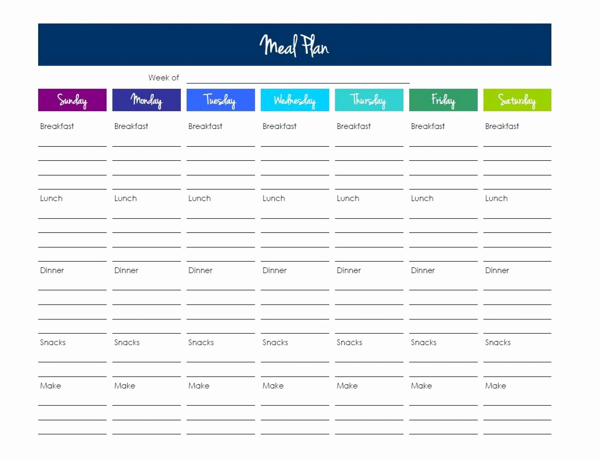 Meal Plan Template Excel Inspirational 016 Day Fix Meal Plan Template Excel Elegant Printable