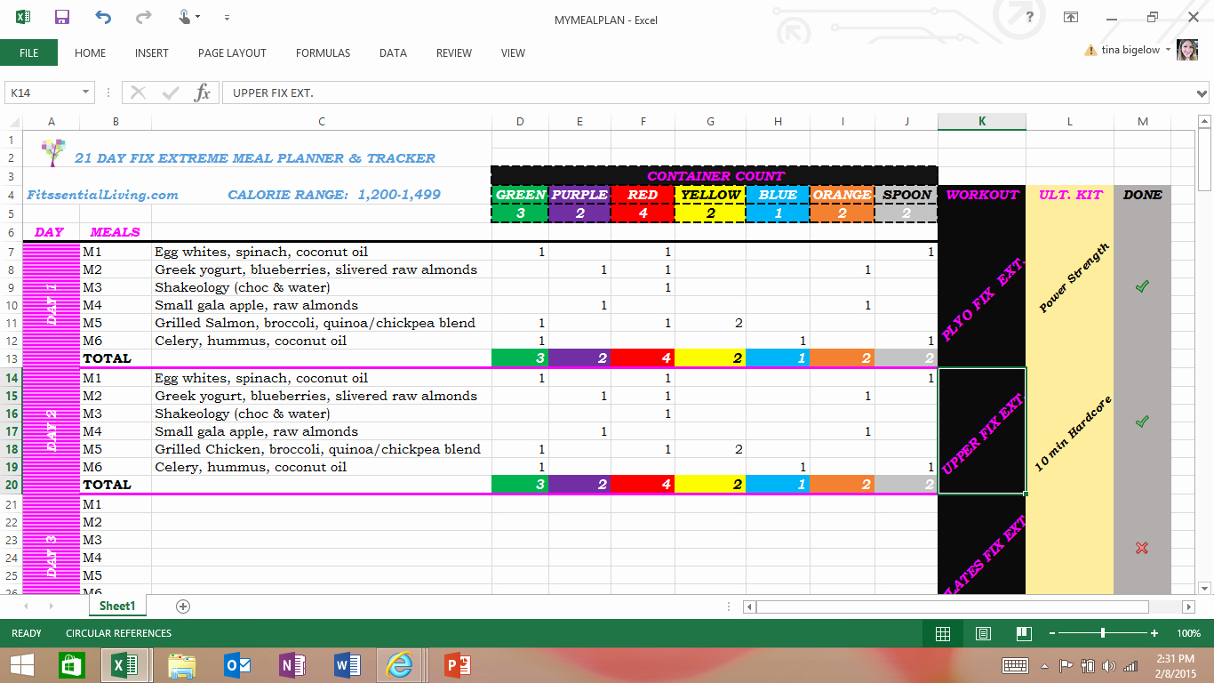Meal Plan Template Excel Inspirational Free Excel Spreadsheet Meal Planner and Tracker for All