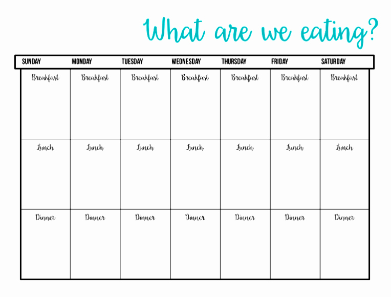 Meal Plan Template Excel Luxury Printable Meal Plan Template Excel Word