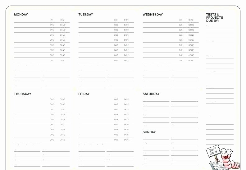Meal Plan Template Excel New Free Weekly Menu Planner Template – theuglysweater