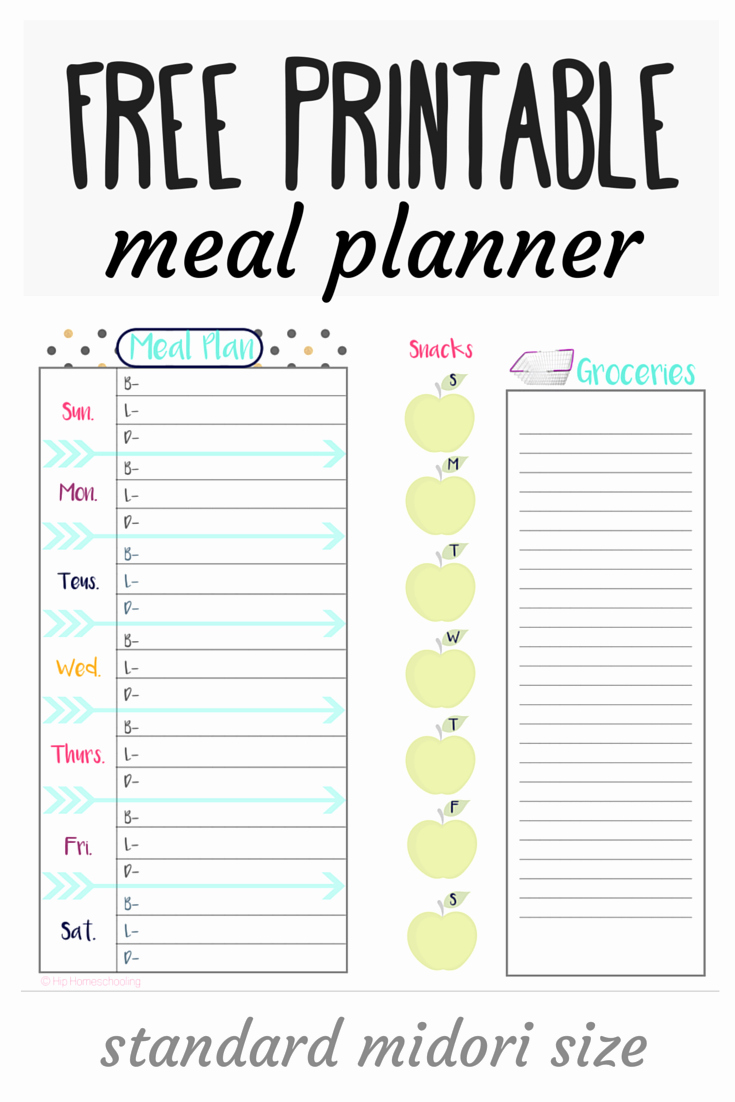 Meal Plan Template Free Beautiful Check Out This Free Meal Planner and Grocery List Midori