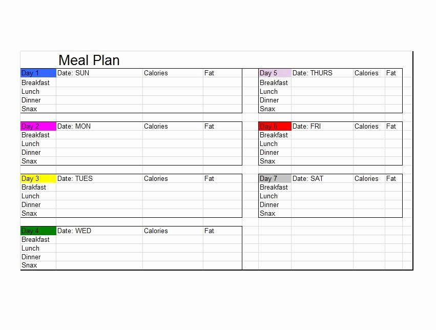 Meal Plan Template Free Fresh 40 Weekly Meal Planning Templates Template Lab