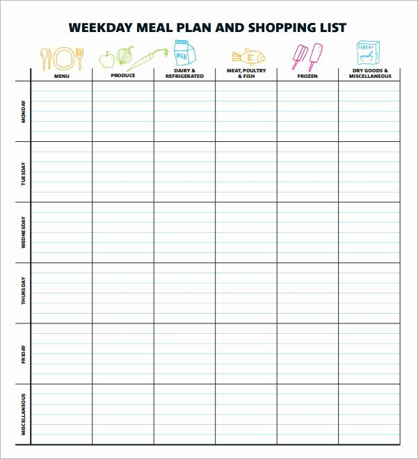 Meal Plan Template Free Luxury Meal Planning Template 17 Download Free Documents In Pdf