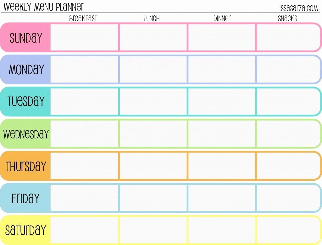 Meal Plan Template Free Unique Free Printable Meal Planner Healthy Living