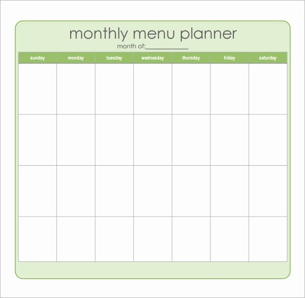 Meal Plan Template Word Elegant 18 Meal Planning Templates Pdf Excel Word