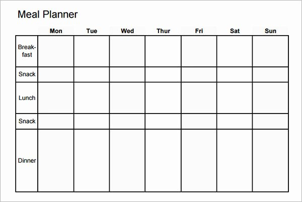 Meal Plan Template Word Fresh 18 Meal Planning Templates Pdf Excel Word