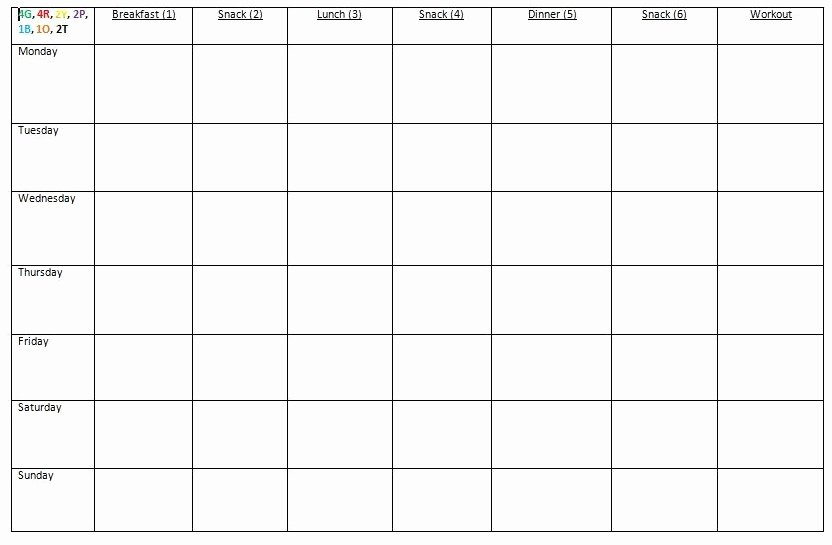 Meal Plan Template Word Luxury How I Prep for the Week