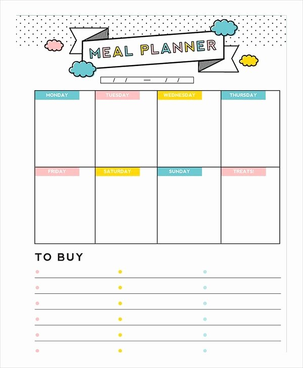 Meal Plan Template Word New Meal Plan Template 21 Free Word Pdf Psd Vector
