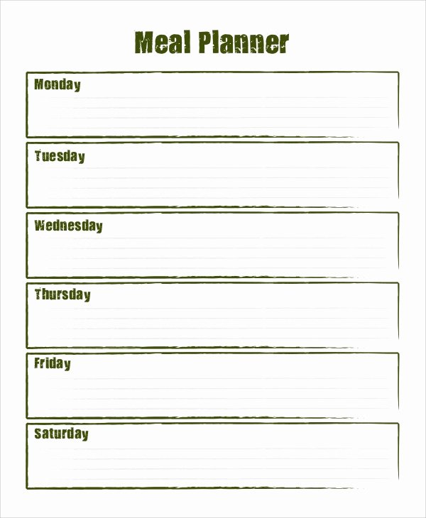 Meal Plan Template Word Unique Sample Meal Planning 7 Documents In Word Pdf