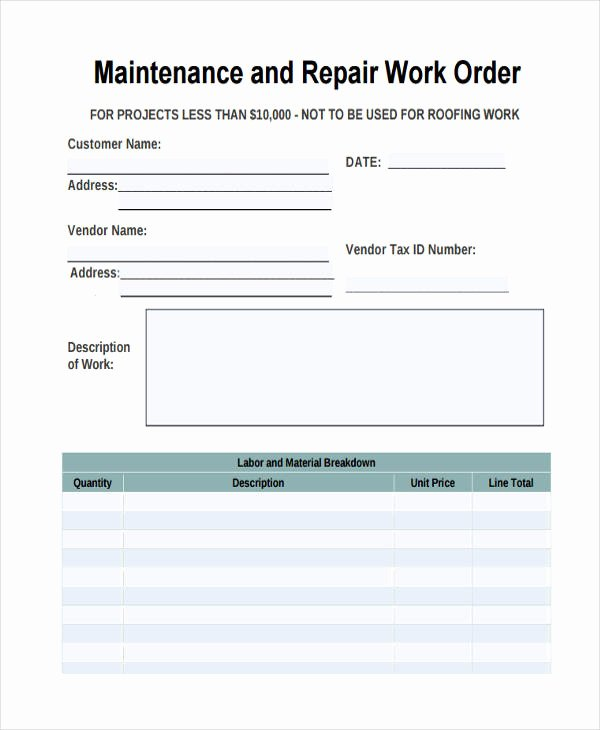 Mechanic Work order Template Elegant 28 Work order Templates Ai Psd