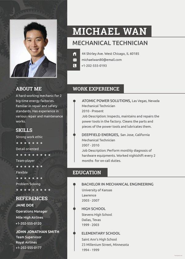 Mechanical Engineer Resume Template Best Of 10 Engineering Resume Template Free Word Pdf Document