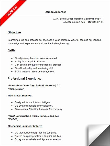 Mechanical Engineer Resume Template Inspirational 42 Best Best Engineering Resume Templates & Samples Images
