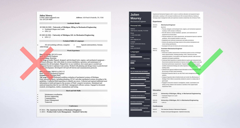 Mechanical Engineer Resume Template Luxury Mechanical Engineering Resume Guide with Sample [ 20