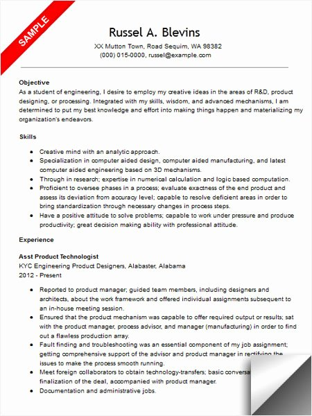 Mechanical Engineer Resume Template Unique Mechanical Engineer Resume Sample