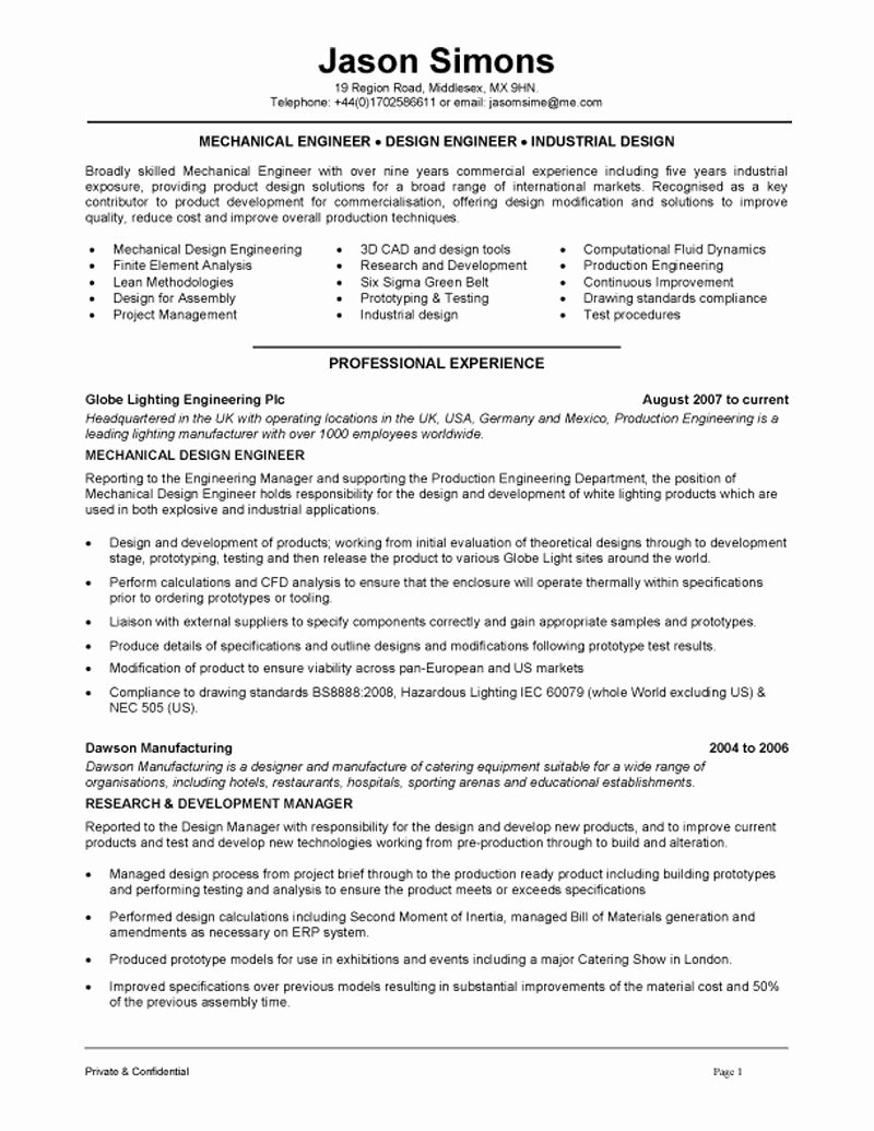 Mechanical Engineering Resume Template Awesome Mechanical Engineering Resume Examples Google Search