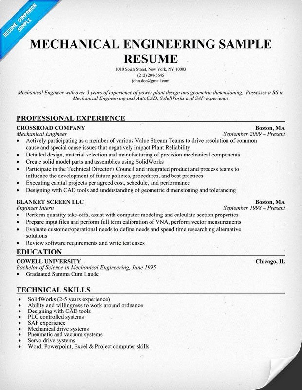 Mechanical Engineering Resume Template Awesome Mechanical Engineering Resume Sample Resume Panion