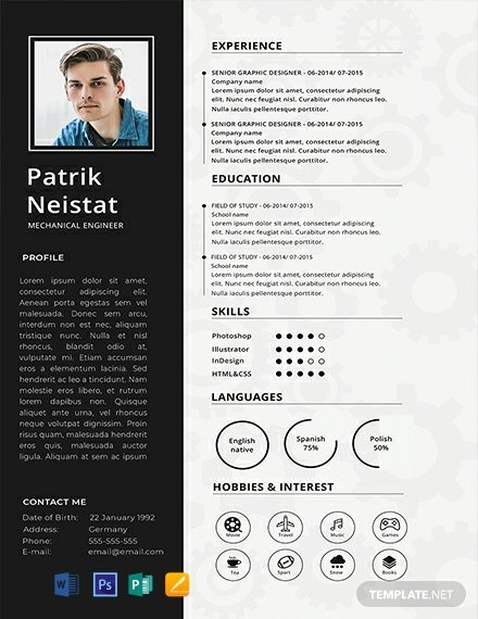 Mechanical Engineering Resume Template Fresh Free Mechanical Engineer Resume Template Download 316