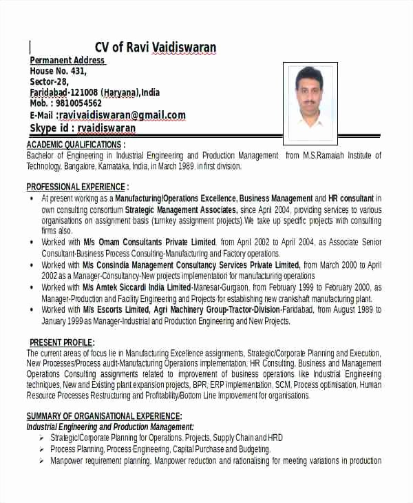 Mechanical Engineering Resume Template Inspirational Mechanical Production Engineer Resume Talktomartyb