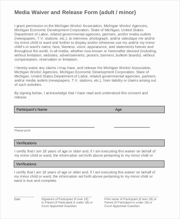 Media Release form Template Beautiful 53 Generic Release forms