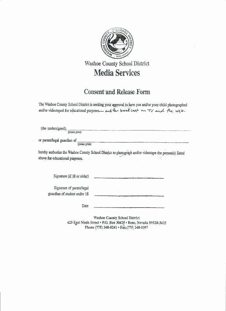 Media Release form Template Best Of Media Consent form Template – Flybymedia