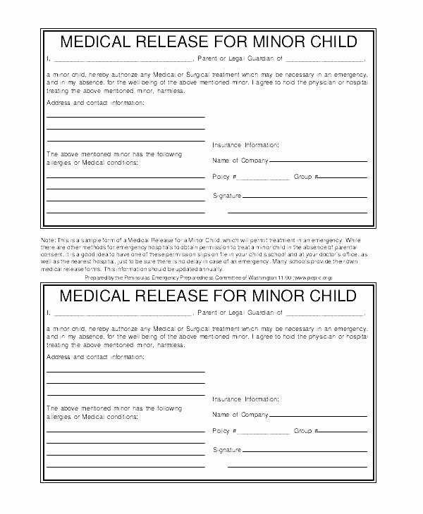 Media Release forms Template Inspirational Consent to Release Information Template Media Release