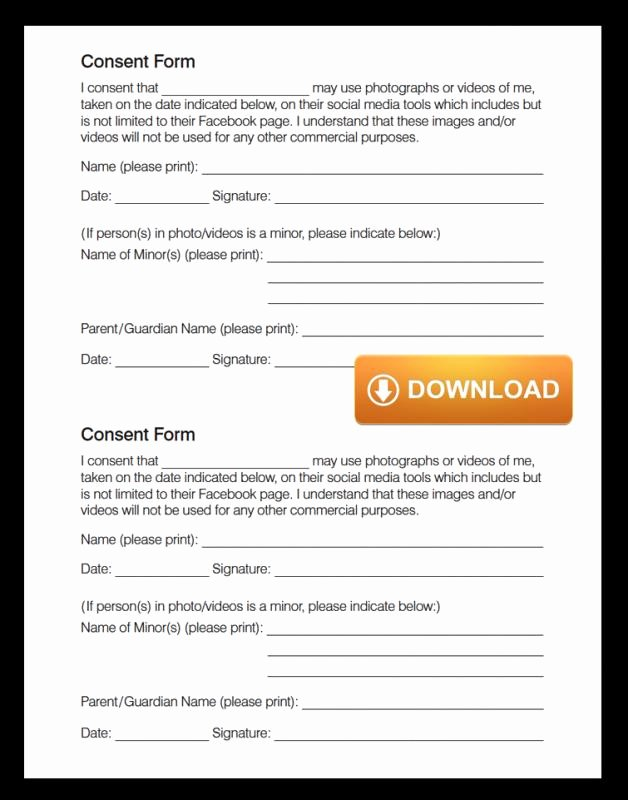 Media Release forms Template Luxury social Media Release form