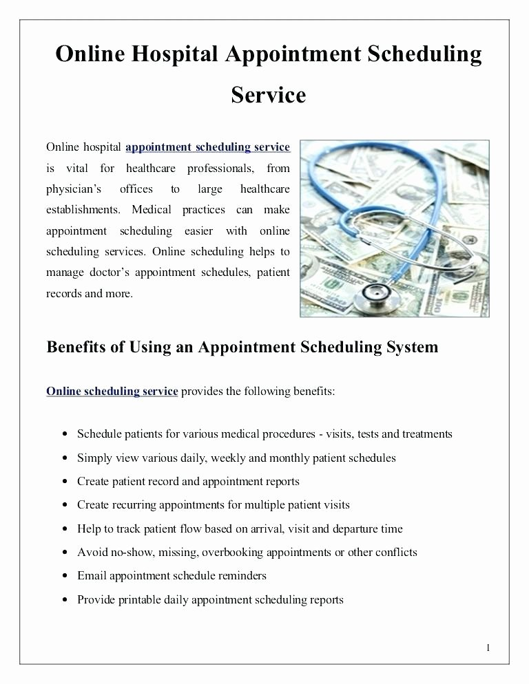 Medical Appointment Scheduling Template Best Of Medical Appointment Scheduling Template Point Free