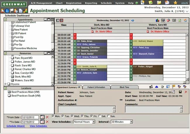 Medical Appointment Scheduling Template Elegant Appointment Scheduling In Greenway Prime Suite