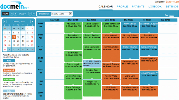 Medical Appointment Scheduling Template Elegant Docmein software 2017 Reviews Pricing & Demo