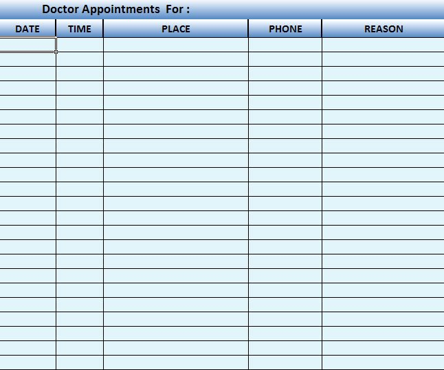 Medical Appointment Scheduling Template Fresh Doctor Scheduling software Template